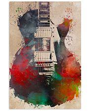 Watercolor Guitar Art Print 11x17 Poster front