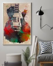 Watercolor Guitar Art Print 11x17 Poster lifestyle-poster-1