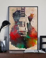 Watercolor Guitar Art Print 11x17 Poster lifestyle-poster-2