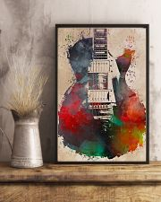 Watercolor Guitar Art Print 11x17 Poster lifestyle-poster-3
