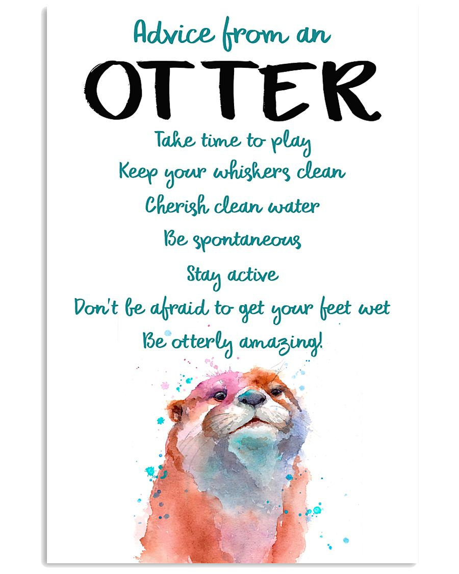 Otter Advice From An Otter 24x36 Poster
