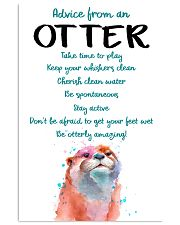Otter Advice From An Otter 24x36 Poster front