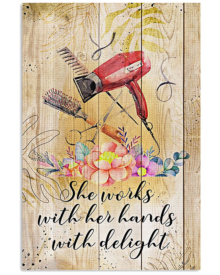Hairdresser She Works With Her Hands With Delight 11x17 Poster