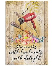 Hairdresser She Works With Her Hands With Delight 11x17 Poster front