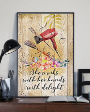 Hairdresser She Works With Her Hands With Delight 11x17 Poster lifestyle-poster-2