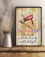 Hairdresser She Works With Her Hands With Delight 11x17 Poster lifestyle-poster-3