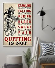 Firefighter crawling is acceptable  11x17 Poster lifestyle-poster-1