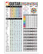 Guitar Color Chord Chart 11x17 Poster front