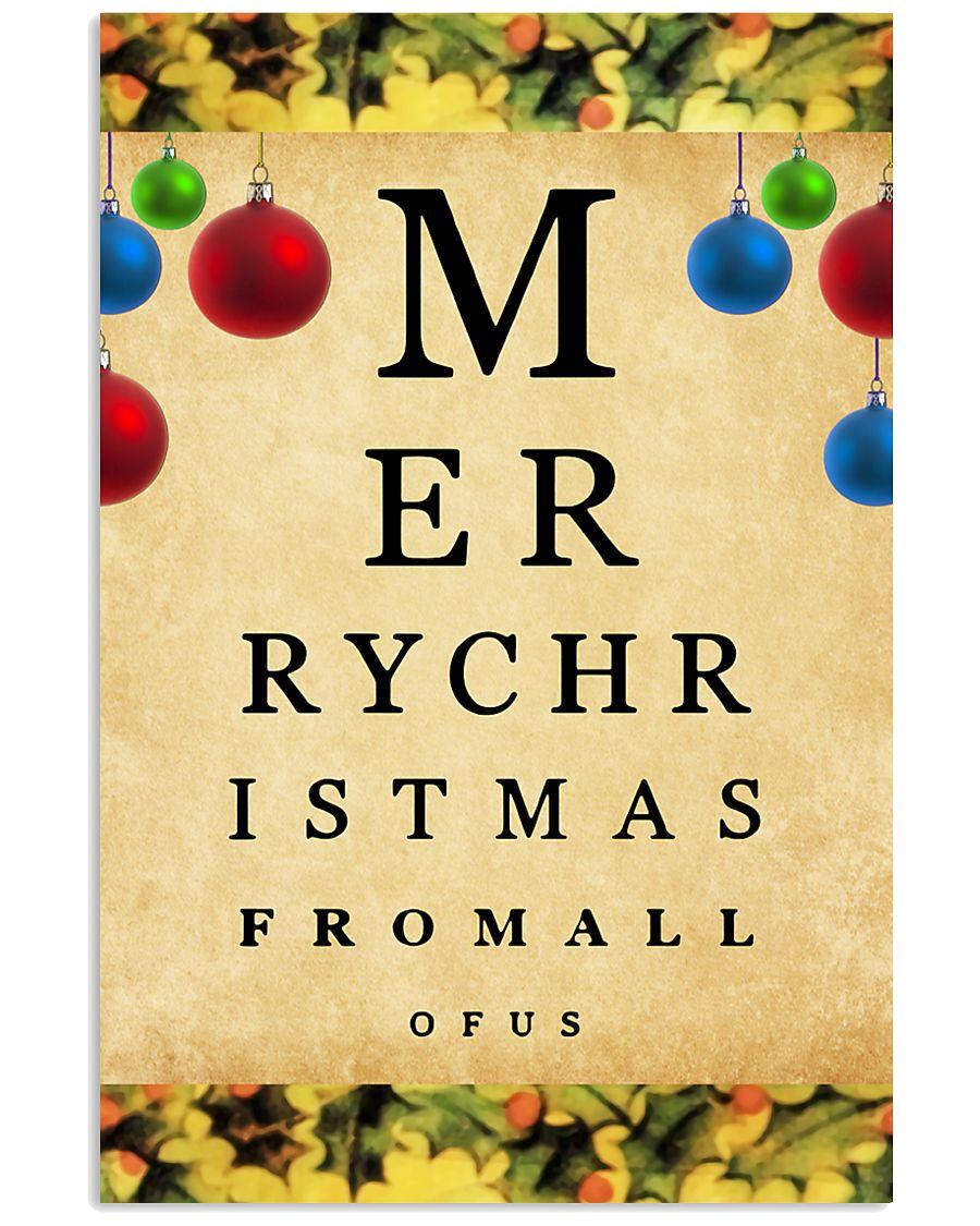 Optometrist Merry Christmas 11x17 Poster