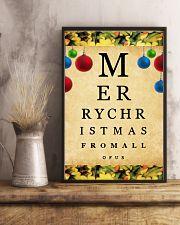 Optometrist Merry Christmas 11x17 Poster lifestyle-poster-3