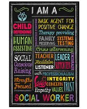 I am a Social Worker  11x17 Poster front