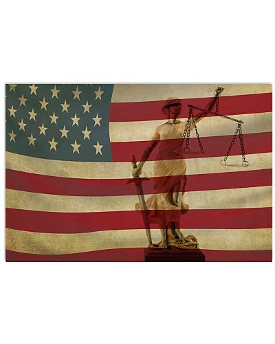 American Flag Lady Justice Paralegal