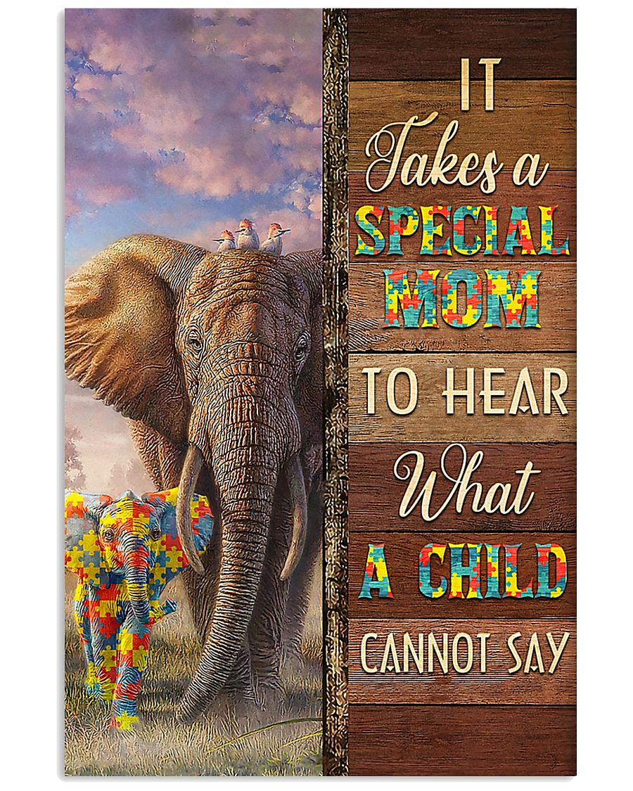 Autism Special Mom Hears What A Child Cannot Say 11x17 Poster