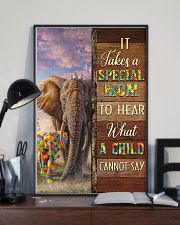 Autism Special Mom Hears What A Child Cannot Say 11x17 Poster lifestyle-poster-2