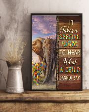 Autism Special Mom Hears What A Child Cannot Say 11x17 Poster lifestyle-poster-3