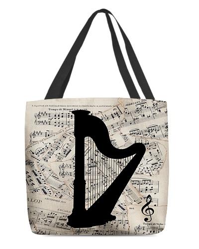 Vintage Sheet Music Harp