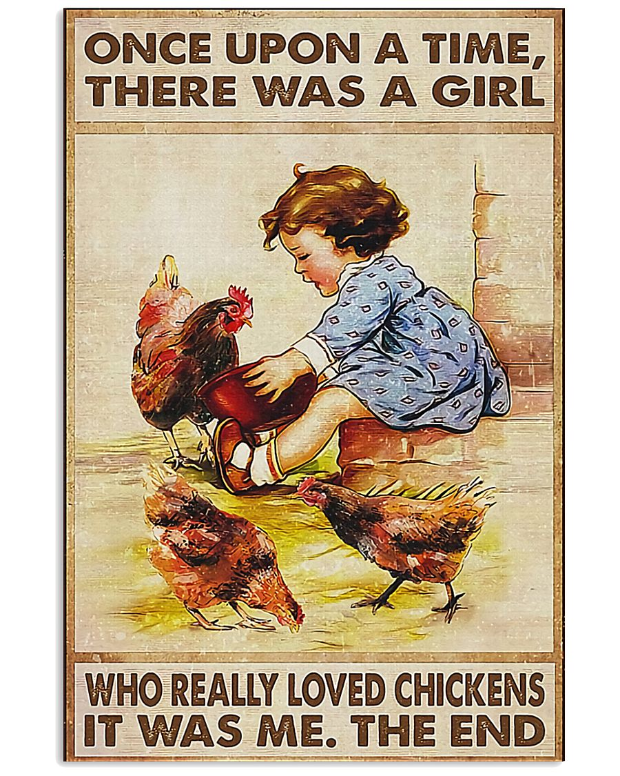 Farmer A Girl Who Really Loved Chickens 11x17 Poster