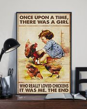 Farmer A Girl Who Really Loved Chickens 11x17 Poster lifestyle-poster-2