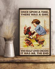 Farmer A Girl Who Really Loved Chickens 11x17 Poster lifestyle-poster-3