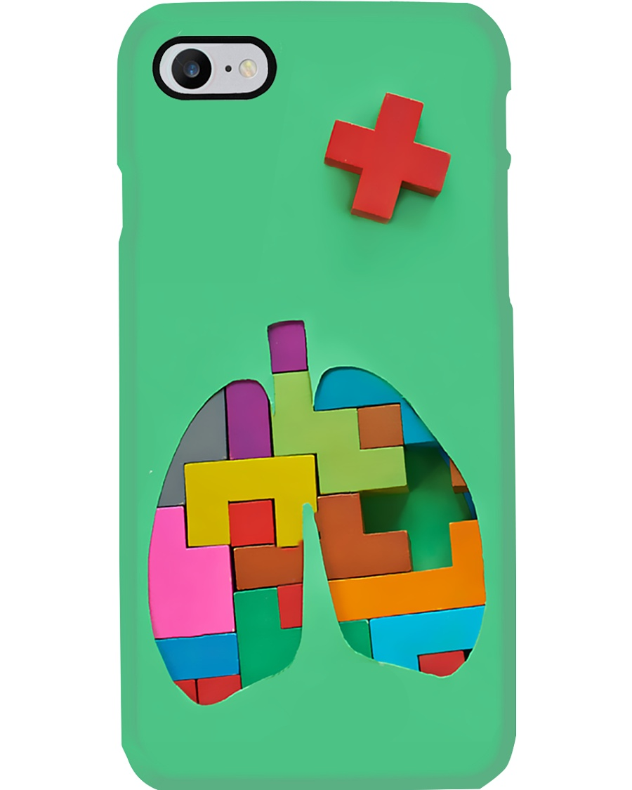 Respiratory Therapist Colorful Puzzle Lungs Phone Case