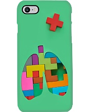 Respiratory Therapist Colorful Puzzle Lungs Phone Case i-phone-7-case