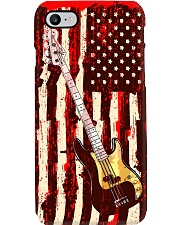 Bass Guitar On American Flag  Phone Case i-phone-7-case