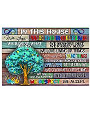 Autism Awareness In This House We Respect  17x11 Poster front