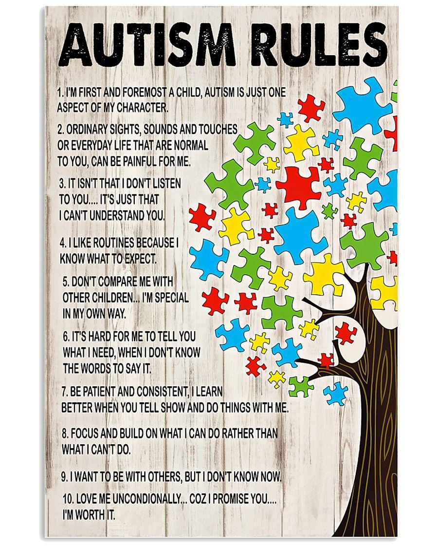 Autism awareness Autism rules 11x17 Poster