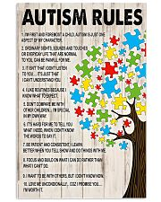 Autism awareness Autism rules 11x17 Poster front