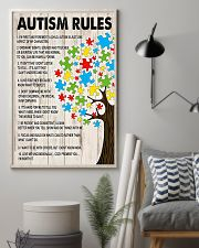 Autism awareness Autism rules 11x17 Poster lifestyle-poster-1