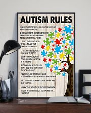 Autism awareness Autism rules 11x17 Poster lifestyle-poster-2
