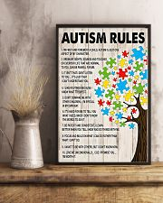 Autism awareness Autism rules 11x17 Poster lifestyle-poster-3