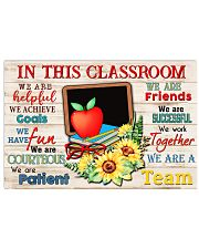 In This Classroom We Are A Team  17x11 Poster front