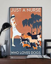 Just A Nurse Who Loves Dogs 11x17 Poster lifestyle-poster-2