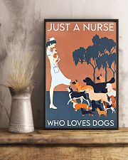 Just A Nurse Who Loves Dogs 11x17 Poster lifestyle-poster-3