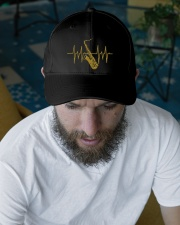 Saxophone - Heart Beating Embroidered Hat garment-embroidery-hat-lifestyle-06