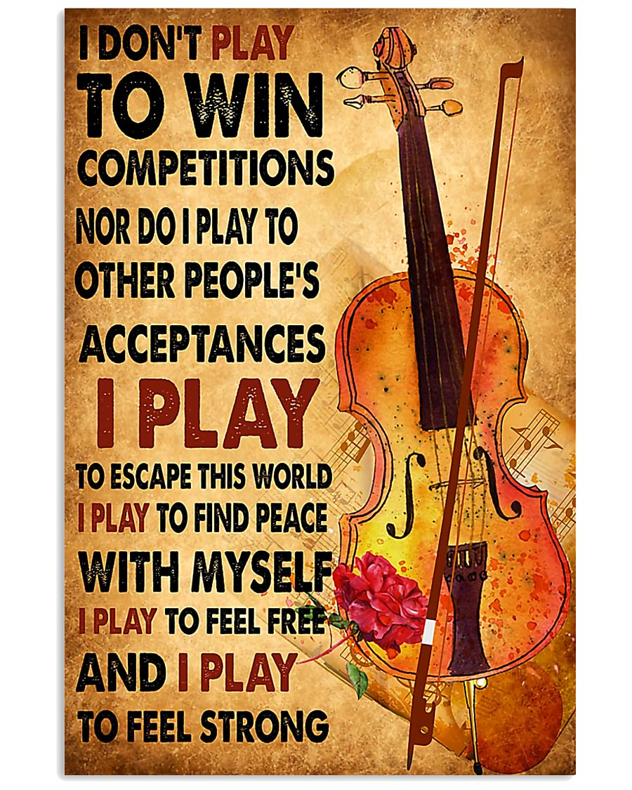 Cello - I don't play to win 11x17 Poster