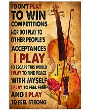 Cello - I don't play to win 11x17 Poster front