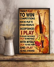 Cello - I don't play to win 11x17 Poster lifestyle-poster-3