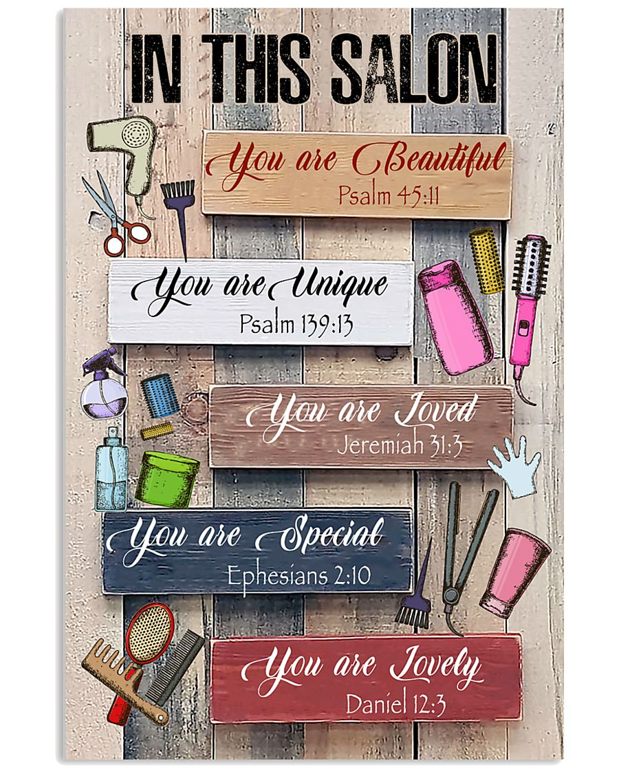 In This Salon Hairdresser 11x17 Poster