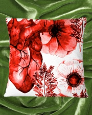 Cardiologist Red Heart Square Pillowcase aos-pillow-square-front-lifestyle-32