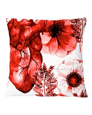 Cardiologist Red Heart Square Pillowcase back