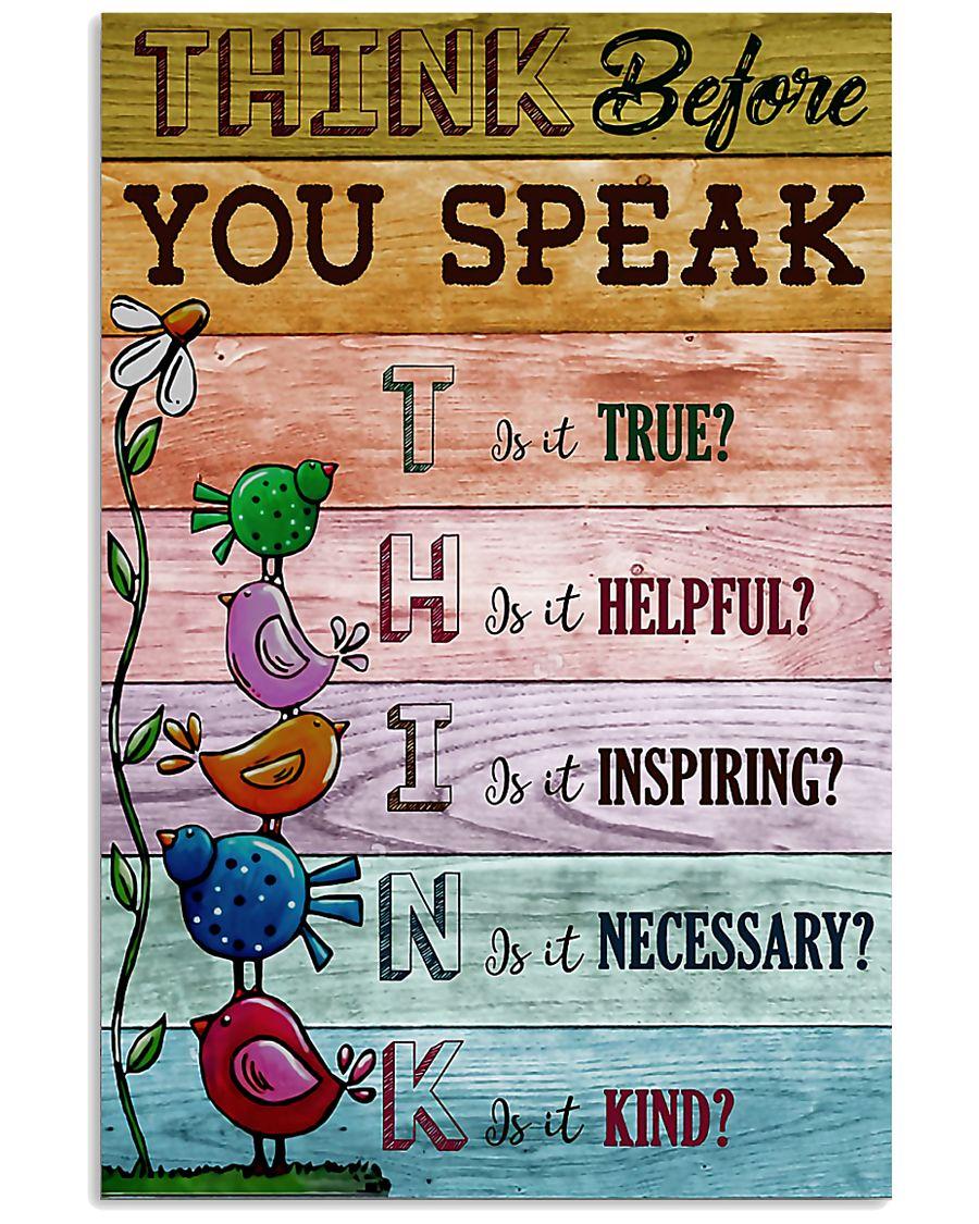 Think Before You Speak Teacher  11x17 Poster