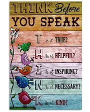 Think Before You Speak Teacher  11x17 Poster front