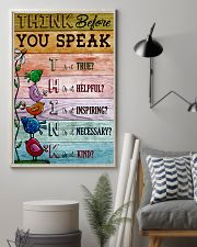 Think Before You Speak Teacher  11x17 Poster lifestyle-poster-1