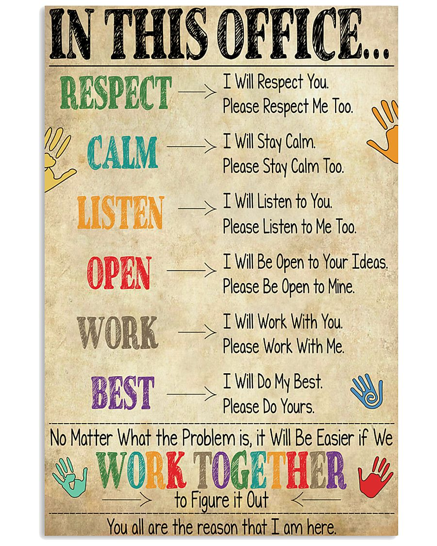 Social Worker In This Office We Work Together 11x17 Poster