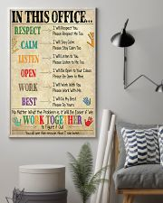 Social Worker In This Office We Work Together 11x17 Poster lifestyle-poster-1
