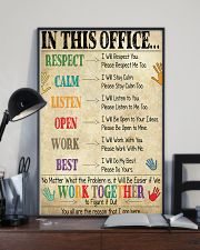 Social Worker In This Office We Work Together 11x17 Poster lifestyle-poster-2