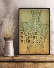 Physical Therapy Stretch Strengthen Stabilize 11x17 Poster lifestyle-poster-3