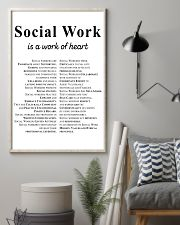 Social Work Is A Work Of Heart 11x17 Poster lifestyle-poster-1